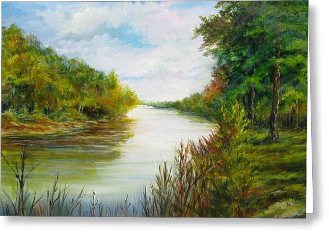 Great Pee Dee River Sold Greeting Card by Gloria Turner