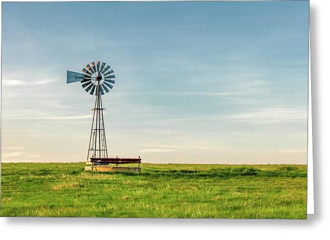 Great Plains Windmill Greeting Card