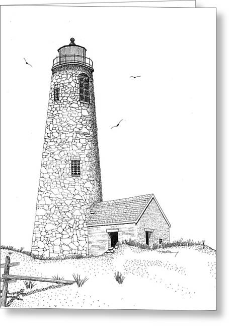 Great Point Lighthouse Greeting Card