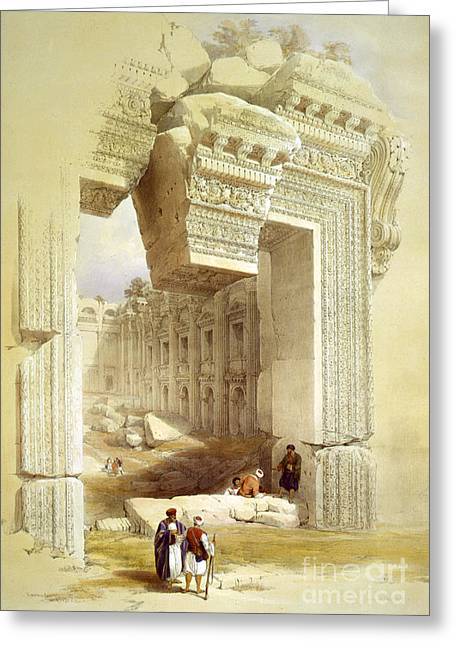 Great Portal, Temple Of Bacchus Greeting Card