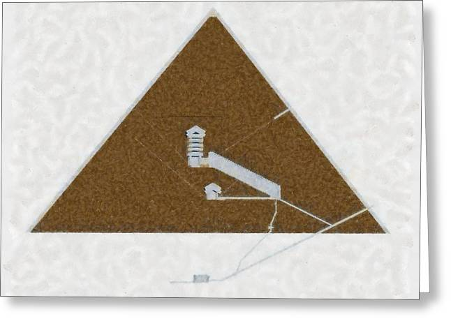 Great Pyramid By Pierre Blanchard Greeting Card by Pierre Blanchard