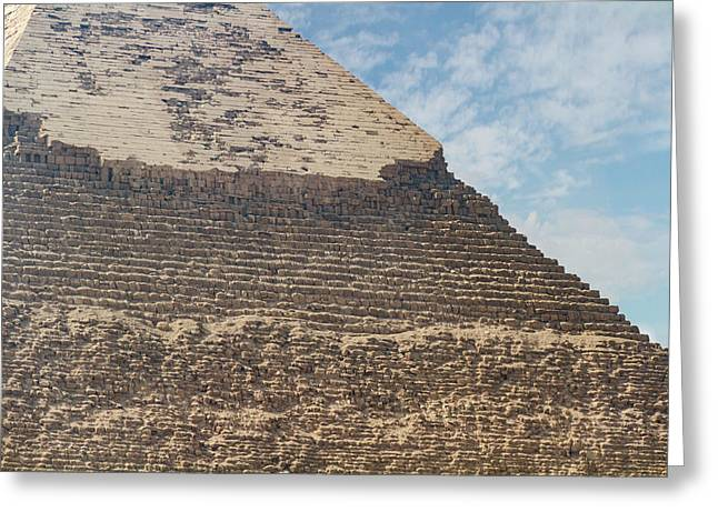 Greeting Card featuring the photograph Great Pyramid Of Giza by Silvia Bruno