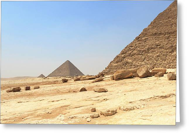 Greeting Card featuring the photograph Great Pyramids Of Gizah by Silvia Bruno
