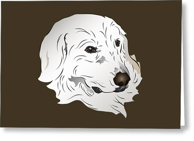 Great Pyrenees Dog Greeting Card by MM Anderson