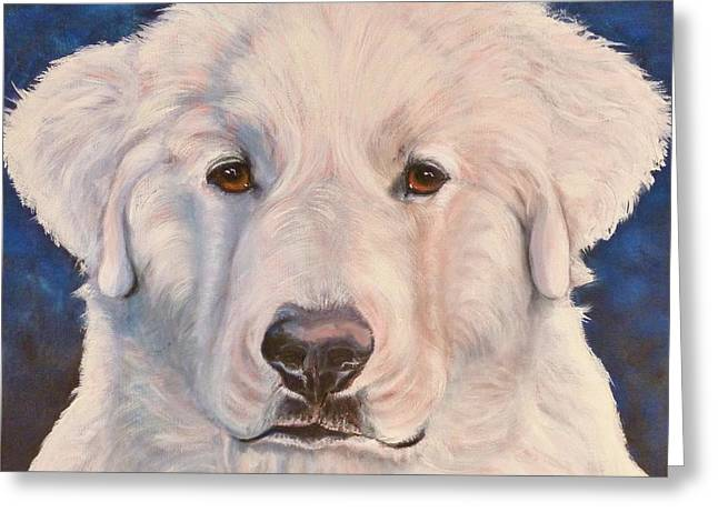 Great Pyrenees Greeting Card by Susan A Becker