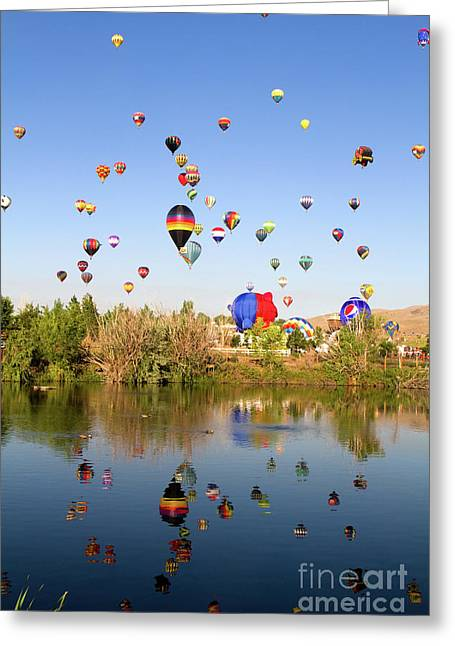 Great Reno Balloon Races Greeting Card