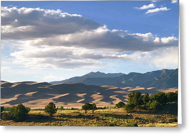 Great Sand Dunes At Dusk Greeting Card