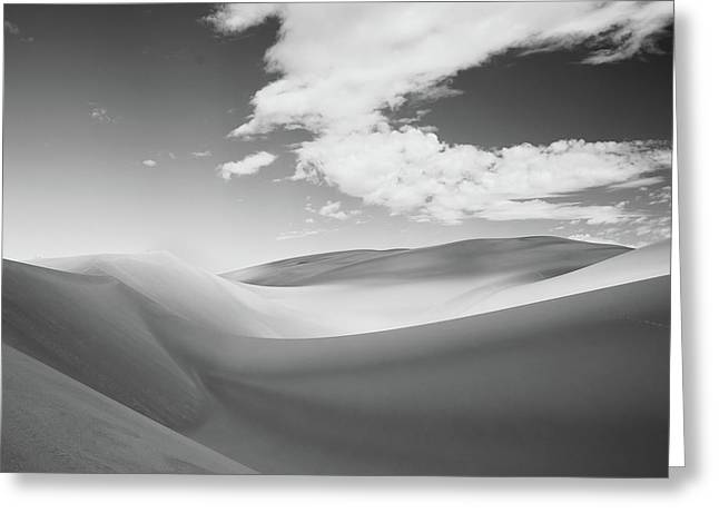 Great Sand Dunes National Park In Black And White Greeting Card