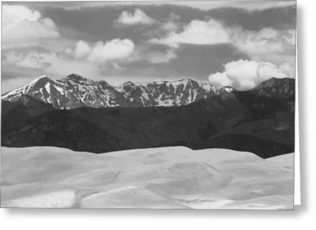 Great Sand Dunes Panorama 1 Bw Greeting Card by James BO  Insogna