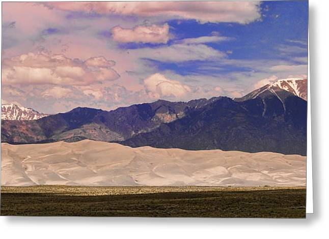 Colorado Sand Dunes Greeting Cards - Great Sand Dunes Panorama 2 Greeting Card by James BO  Insogna