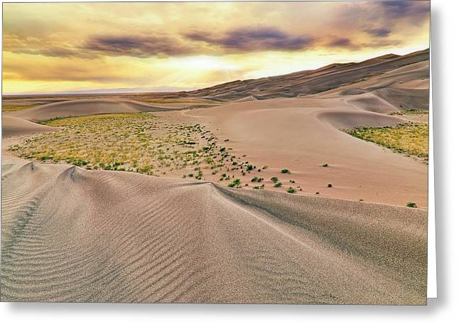 Greeting Card featuring the photograph Great Sand Dunes Sunset - Colorado - Landscape by Jason Politte