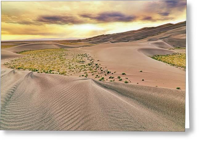 Great Sand Dunes Sunset - Colorado - Landscape Greeting Card by Jason Politte