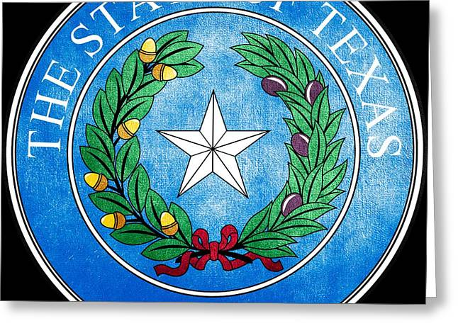 Great Seal Of The State Of Texas Greeting Card by Fry1989