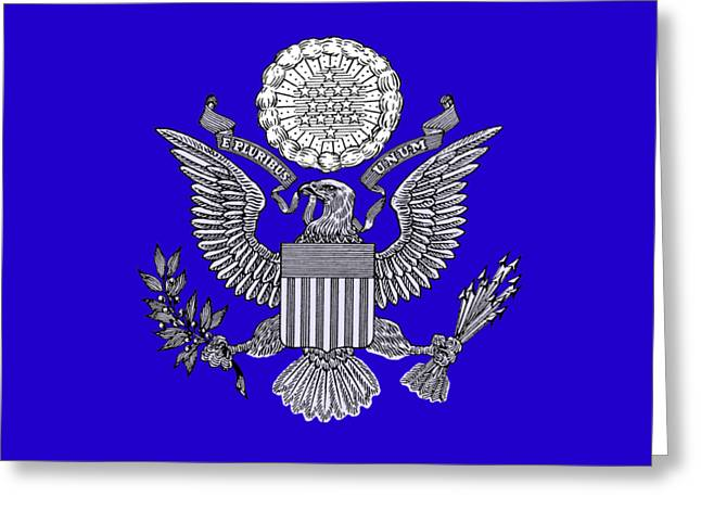 Great Seal Of The United States 2 Greeting Card by Otis Porritt