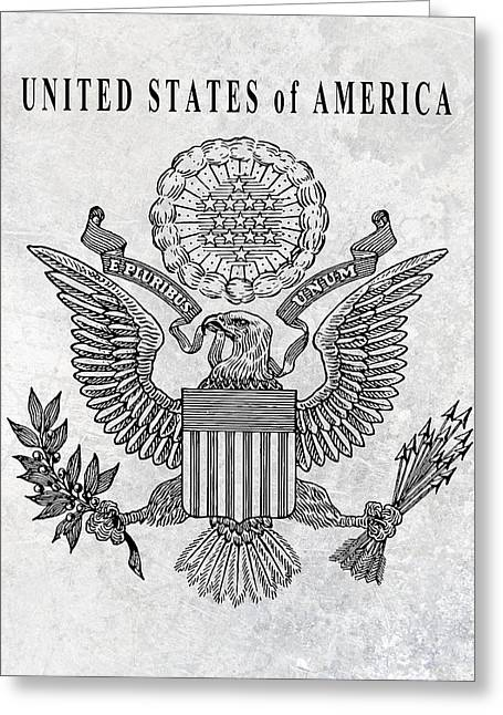 Great Seal Of The United States Greeting Card by Daniel Hagerman