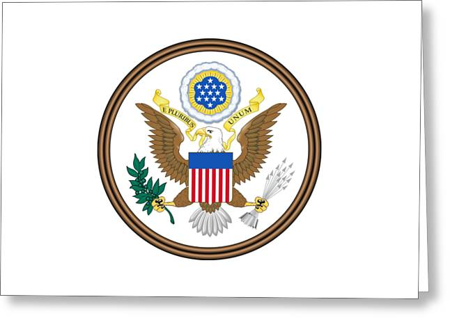 Great Seal Of The United States Greeting Card by Frederick Holiday