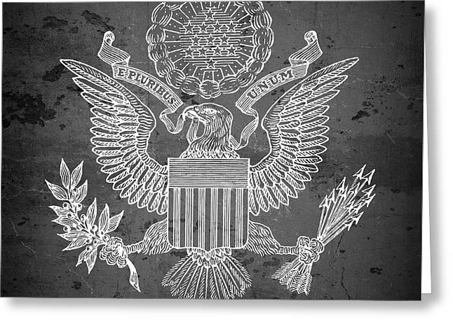 Great Seal Of The United States Of America Greeting Card by Daniel Hagerman