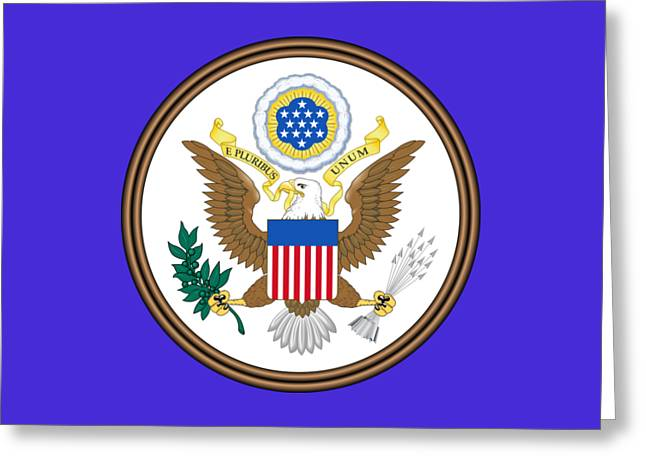 Great Seal Of The United States Greeting Card by Otis Porritt