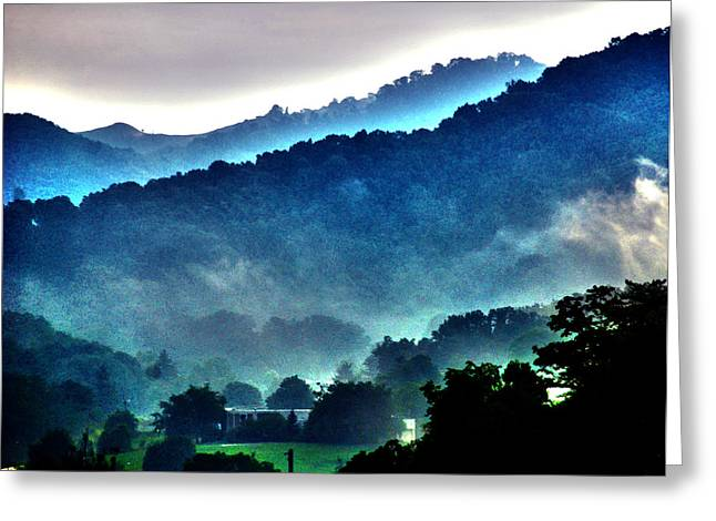 Mystical Landscape Greeting Cards - Great Smokey Mountains Greeting Card by Susanne Van Hulst