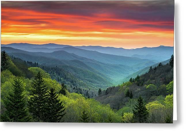 Great Smoky Mountains National Park Gatlinburg Tn Scenic Landscape Greeting Card