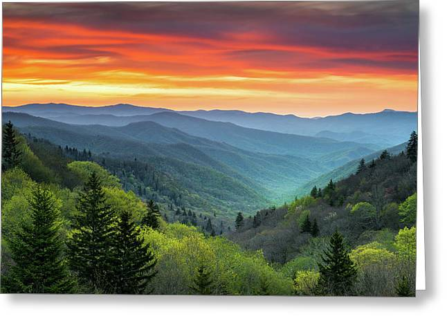 Great Smoky Mountains National Park Gatlinburg Tn Scenic Landscape Greeting Card