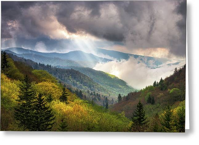 Great Smoky Mountains National Park Scenic Landscape Gatlinburg Tn Greeting Card