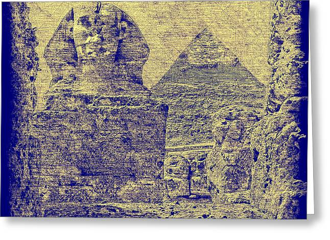 Great Sphinx And Pyramid Of Khafre Greeting Card