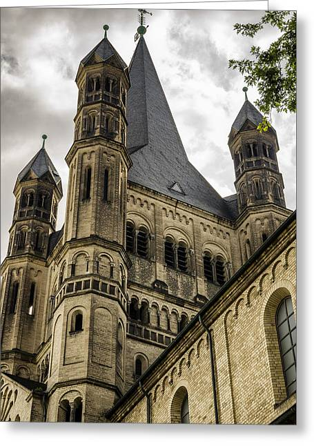 Great St. Martin Church In Cologne Greeting Card by Pablo Lopez