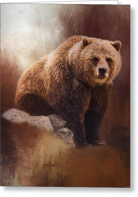 Great Strength - Grizzly Bear Art Greeting Card