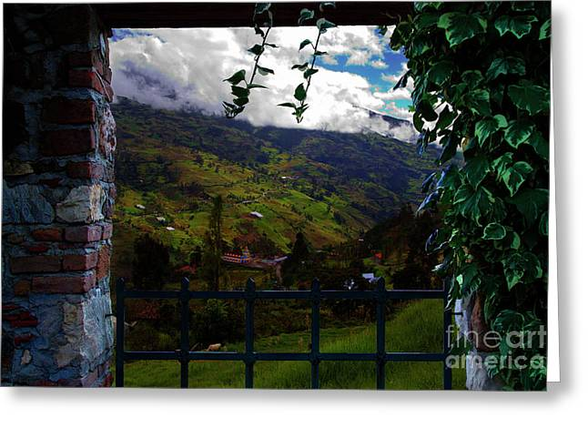 Great View North Of Paute Greeting Card