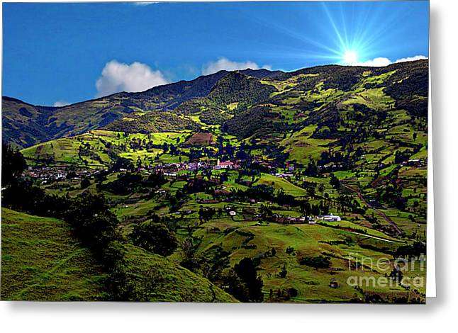 Great View North Of Paute II Greeting Card
