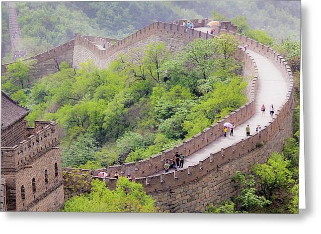 Great Wall At Badaling Greeting Card