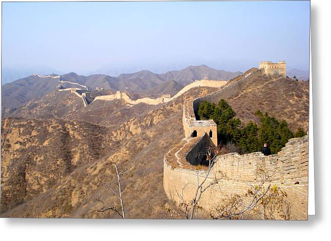 Great Wall Greeting Card by Britta Loucas