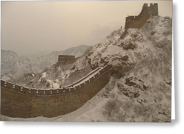 Great Wall Greeting Card by James Lukashenko