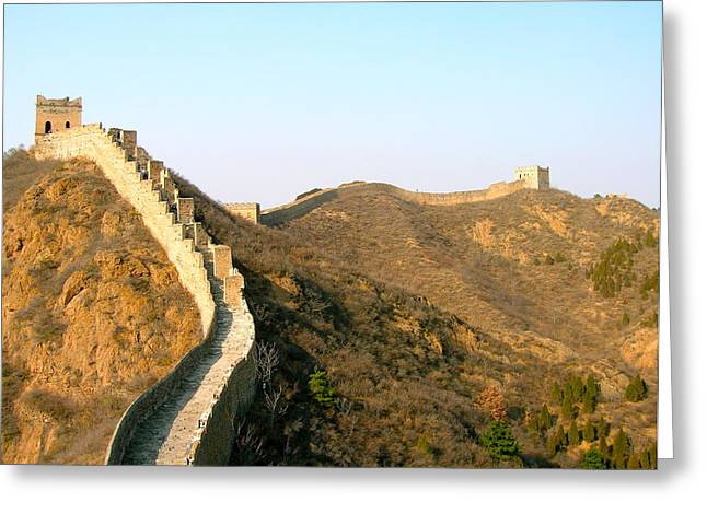 Great Wall Of China Greeting Card by Britta Loucas