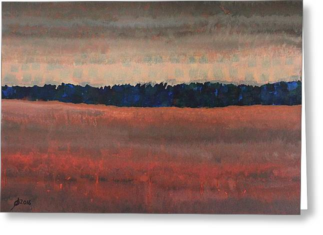 Great Wall Of The West Original Painting Greeting Card by Sol Luckman