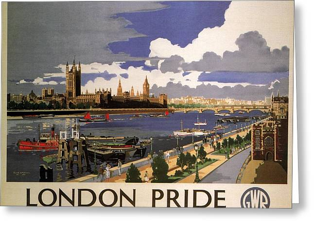 Great Western Railway - London Pride - Retro Travel Poster - Vintage Poster Greeting Card