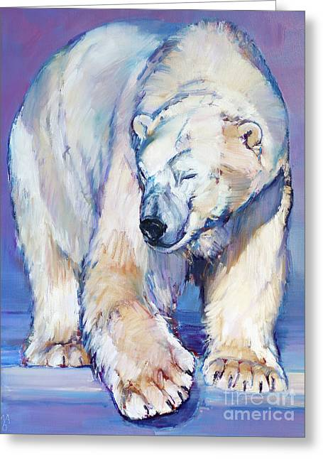 Great White Bear Greeting Card by Mark Adlington