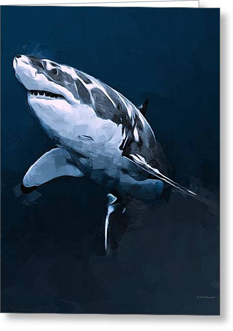 Great White Shark Greeting Card by Scott Wallace