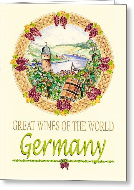 Great Wines Of The World - Germany Greeting Card by John Keaton