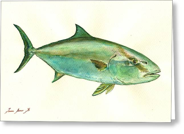 Greater Amberjack Fish Greeting Card