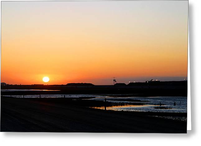 Greater Prudhoe Bay Sunrise Greeting Card by Anthony Jones