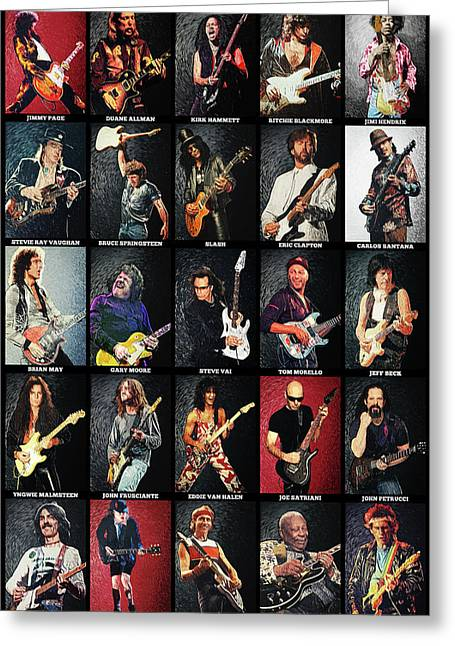 Greatest Guitarists Of All Time Greeting Card
