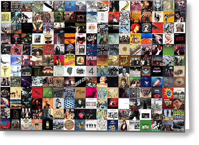 Greatest Rock Albums Of All Time Greeting Card