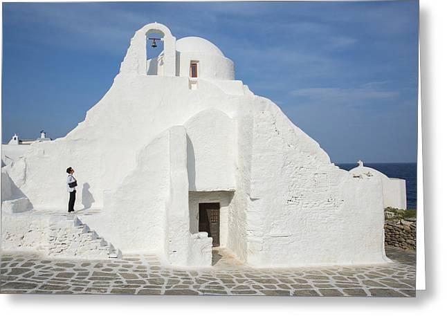 Greece Greeting Card by Christian Heeb