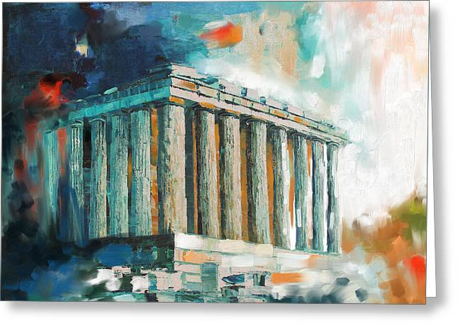 Greece Temple Acropolis 169 2  Greeting Card