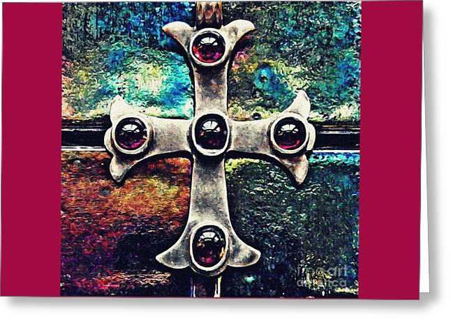 Greek Cross 3 Greeting Card by Sarah Loft