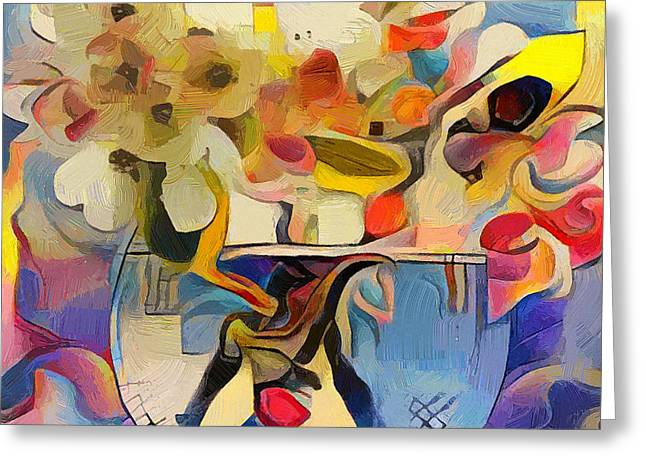 Greek Flowers Greeting Card by Yury Malkov