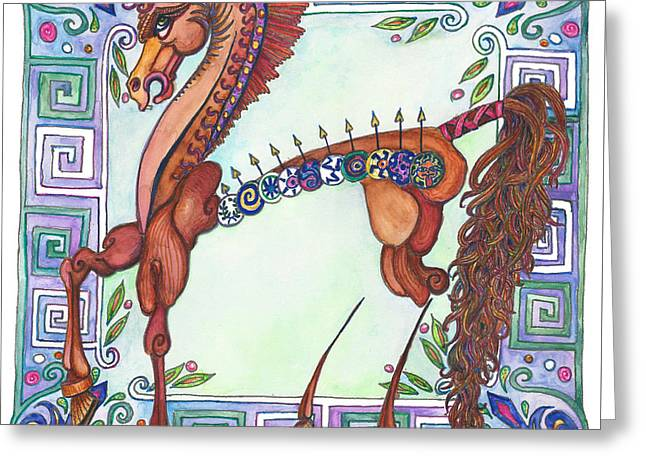 Greek Gift Right Greeting Card by Melinda Dare Benfield