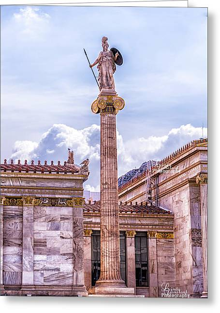 Greeting Card featuring the photograph Greek God by Linda Constant